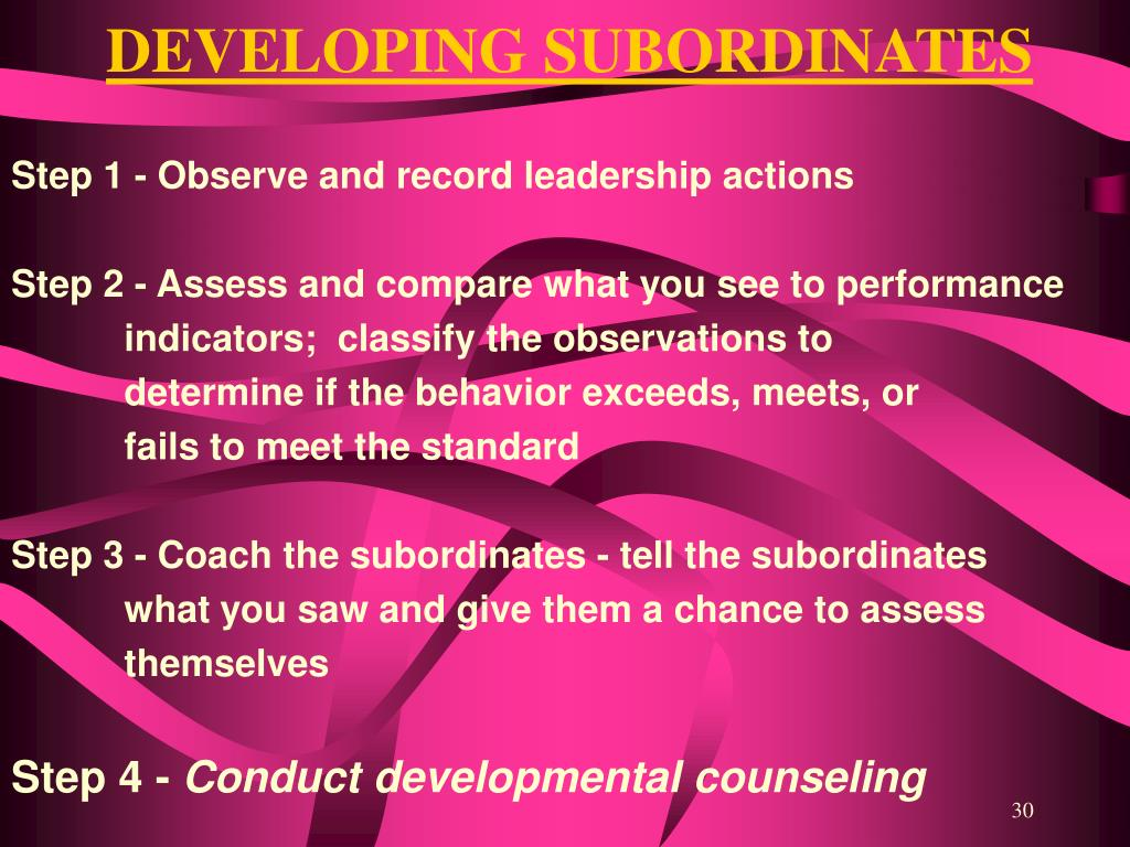 DEVELOPING SUBORDINATES
