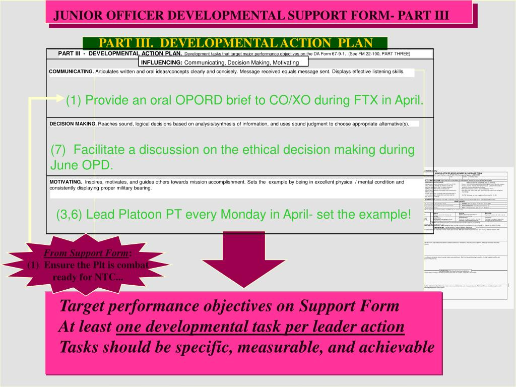 JUNIOR OFFICER DEVELOPMENTAL SUPPORT FORM- PART III