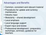 advantages and benefits