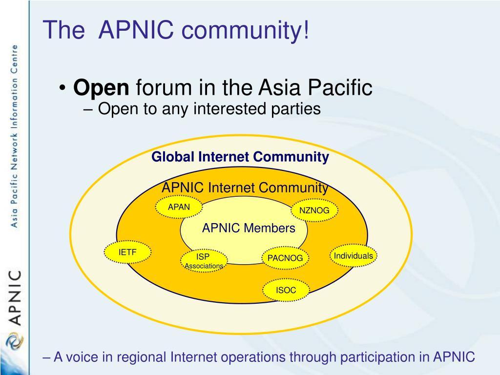 APNIC Internet Community