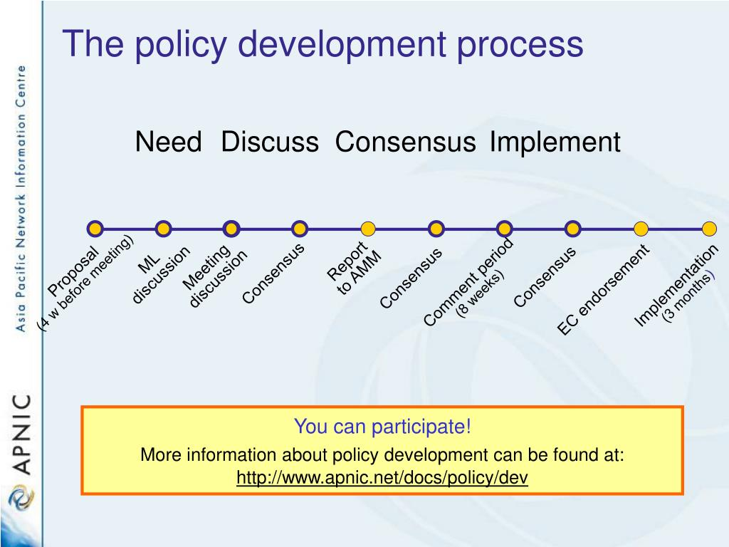 The policy development process