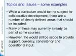 topics and issues some examples