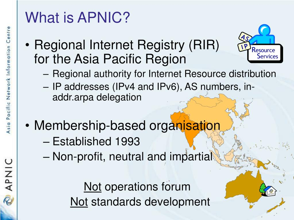 What is APNIC?
