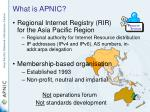 what is apnic12