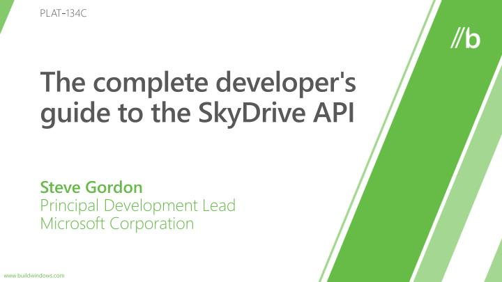 the complete developer s guide to the skydrive api n.