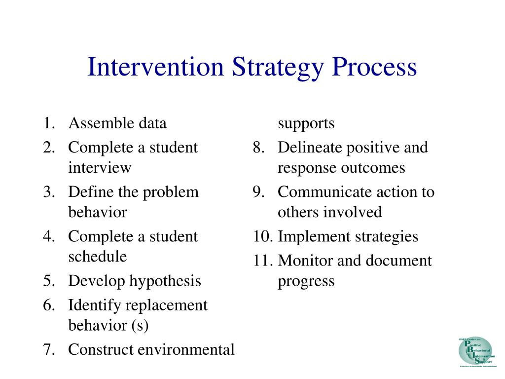 Intervention Strategy Process