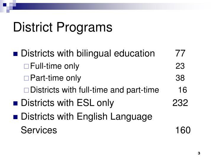 District programs