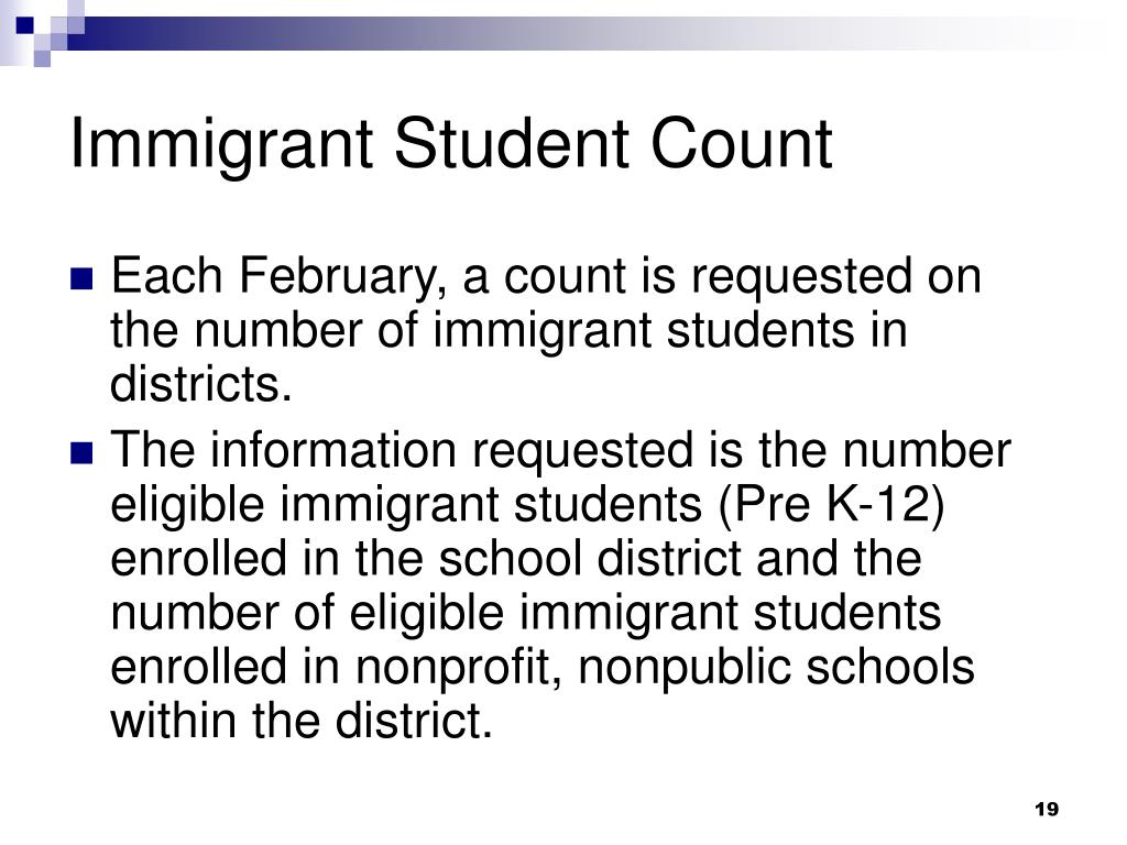 Immigrant Student Count