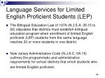 language services for limited english proficient students lep