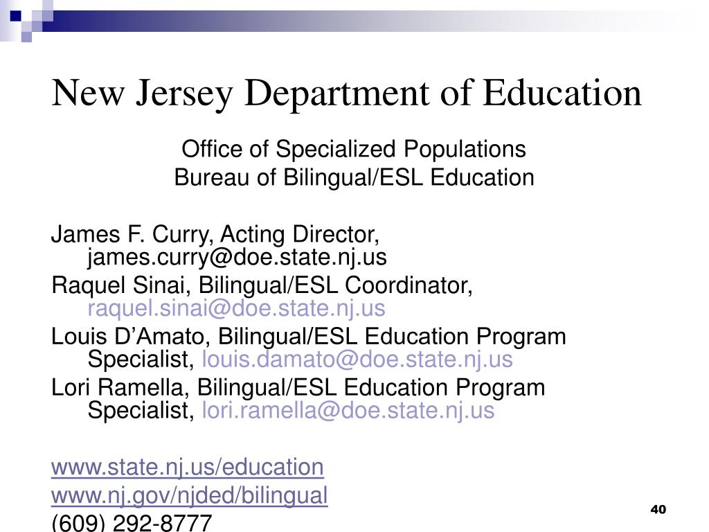 New Jersey Department of Education