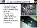brightness measurement