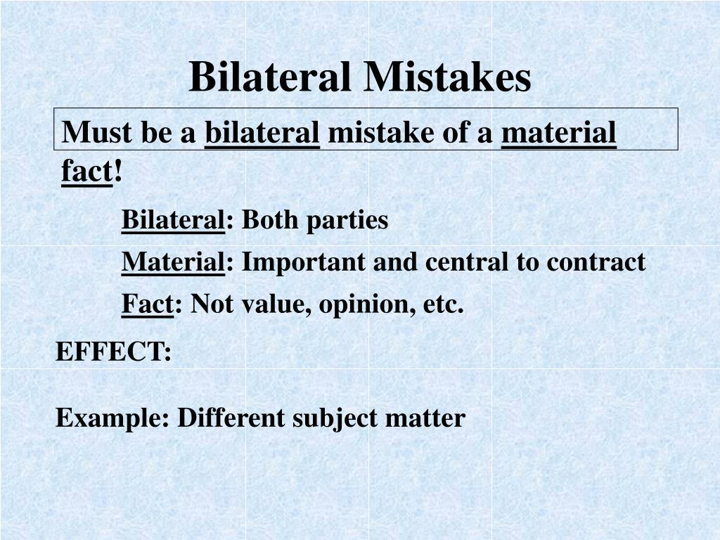 Bilateral Mistakes