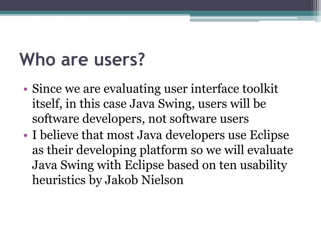 Who are users?