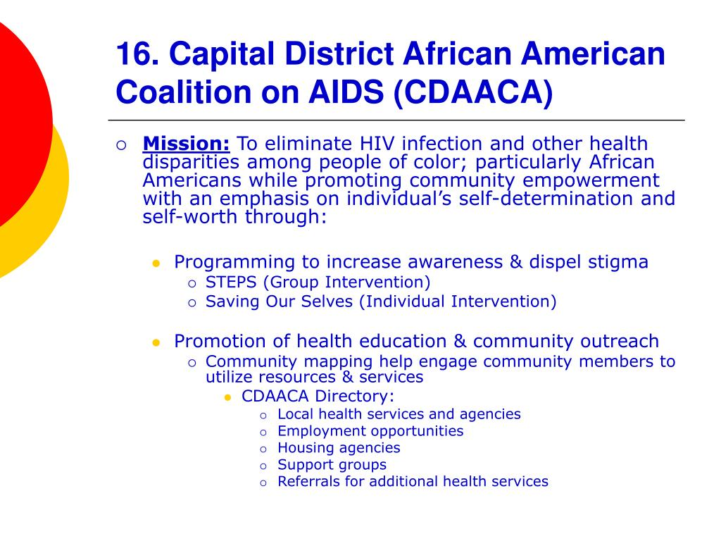 16. Capital District African American Coalition on AIDS (CDAACA)