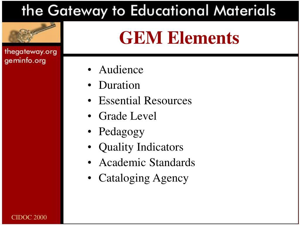 GEM Elements
