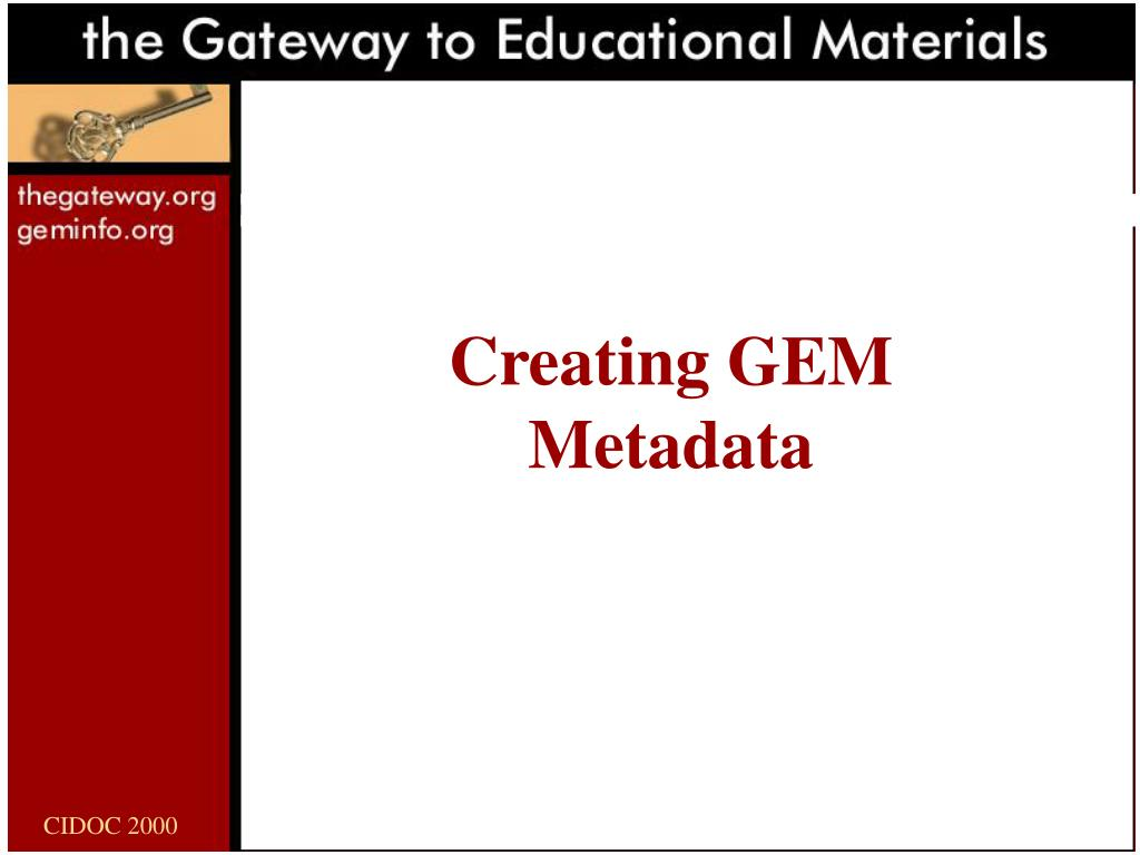 Creating GEM