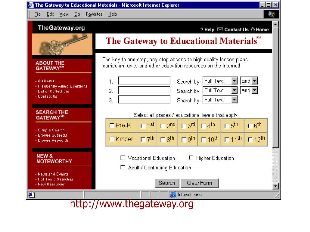 http://www.thegateway.org