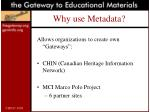 why use metadata25