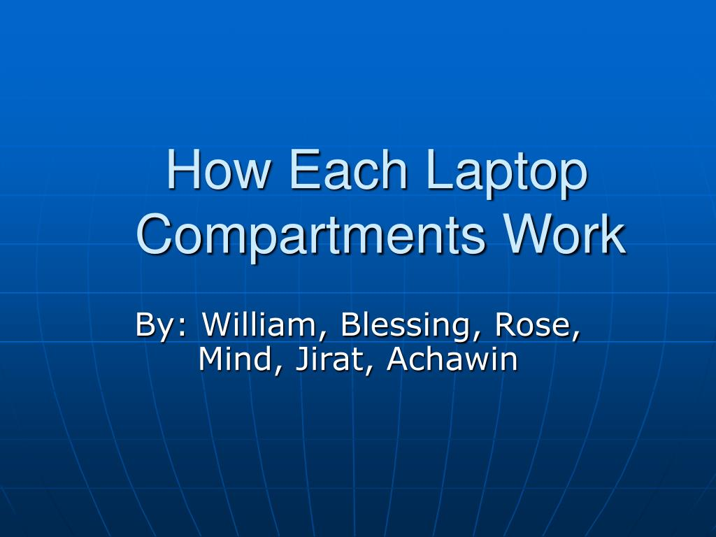 how each laptop compartments work l.