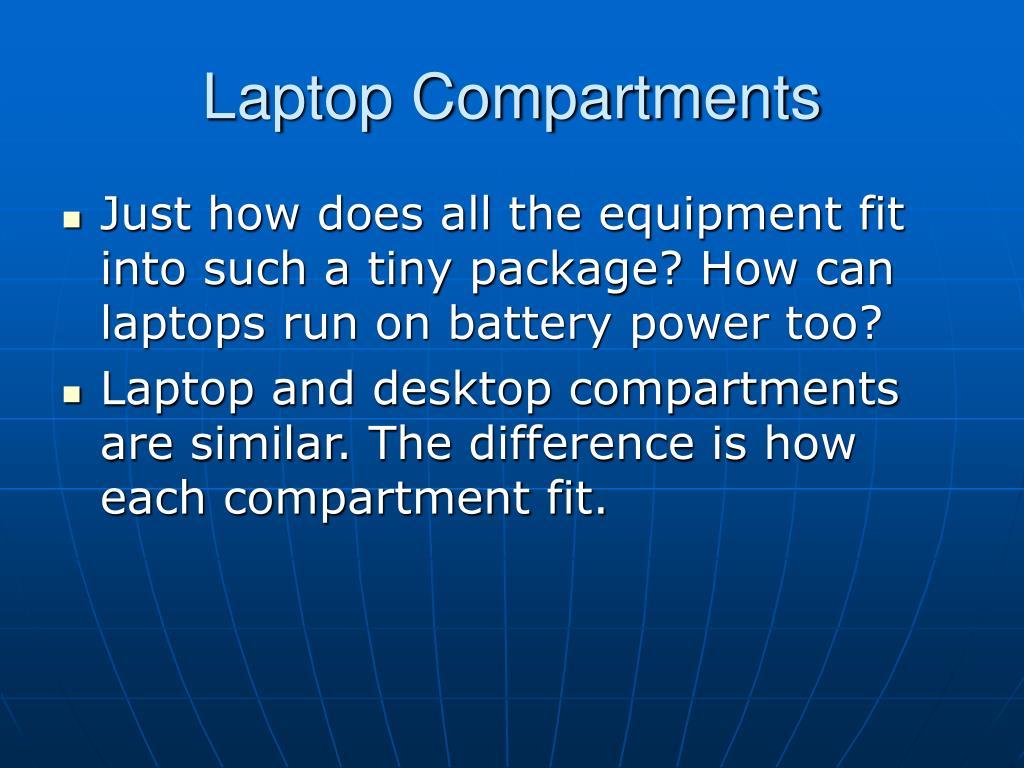 Laptop Compartments