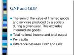 gnp and gdp