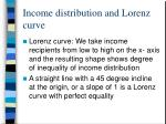 income distribution and lorenz curve