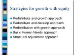 strategies for growth with equity