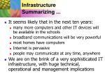 infrastructure summarizing