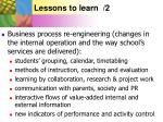 lessons to learn 2
