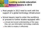 looking outside education school leavers in 2013