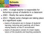 schools teaching