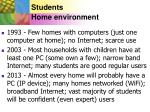 students home environment