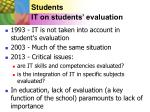 students it on students evaluation