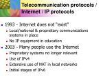 telecommunication protocols internet ip protocols