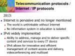 telecommunication protocols internet ip protocols8
