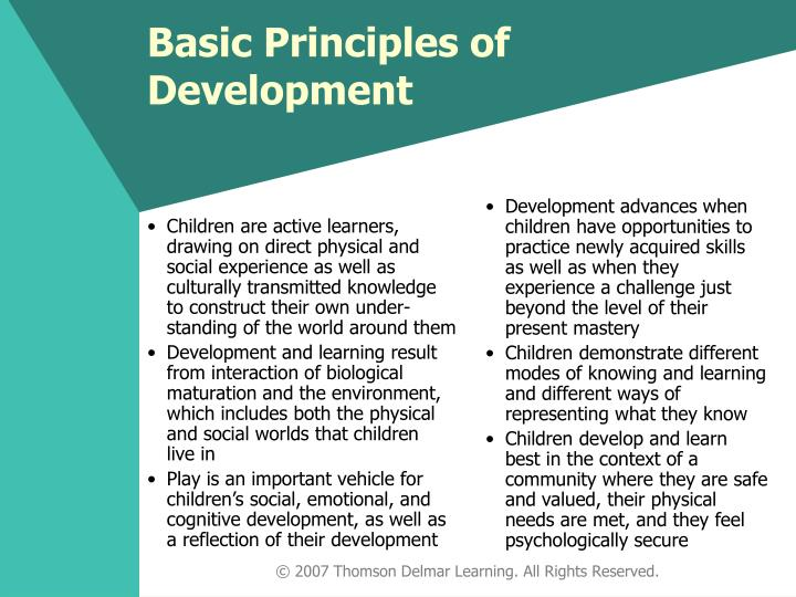 Children are active learners, drawing on direct physical and social experience as well as culturally transmitted knowledge to construct their own under-standing of the world around them