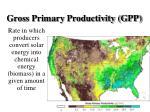 gross primary productivity gpp