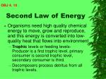 second law of energy