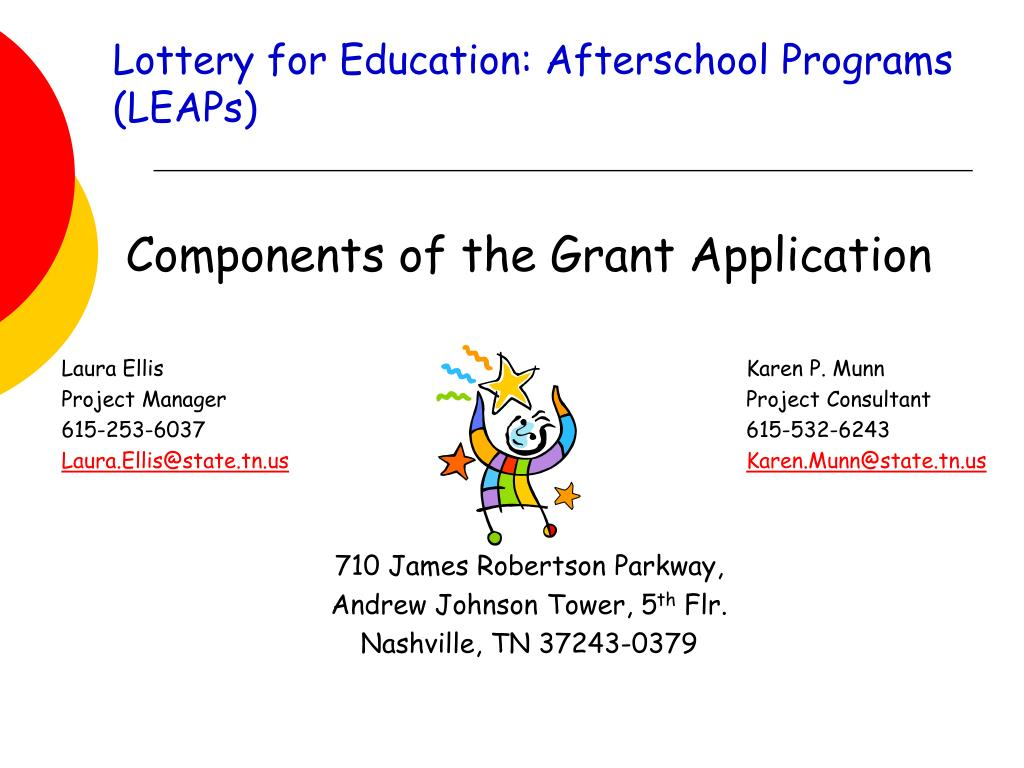 lottery for education afterschool programs leaps l.