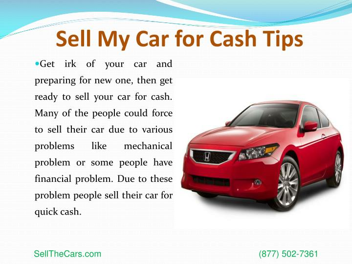 Sell my car for cash tips