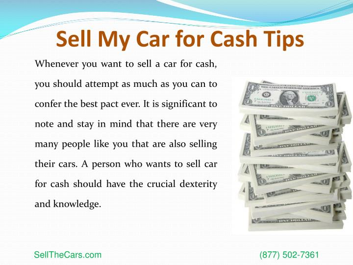 Sell my car for cash tips3