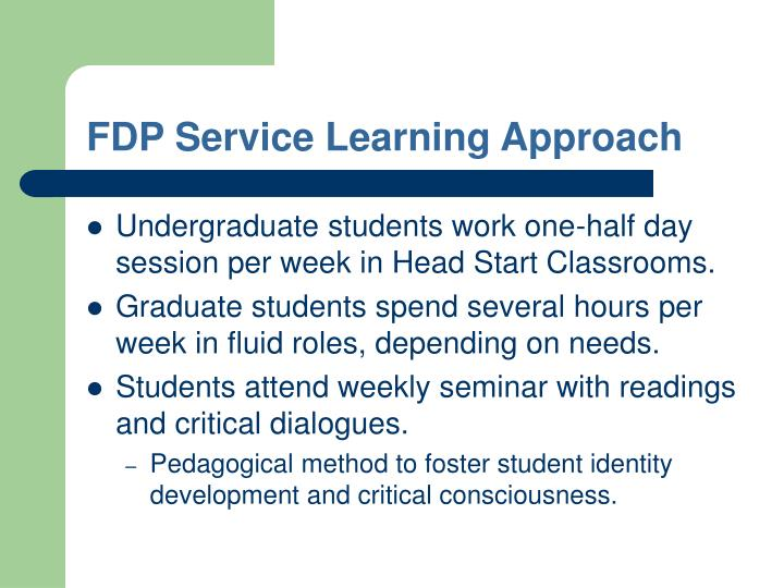 FDP Service Learning Approach