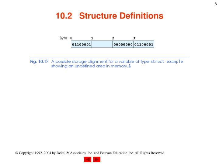 10.2   Structure Definitions