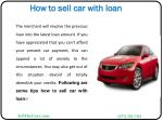 how to sell car with loan3