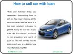 how to sell car with loan4