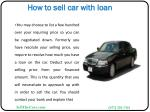 how to sell car with loan5
