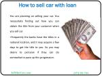 how to sell car with loan6