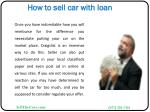 how to sell car with loan9