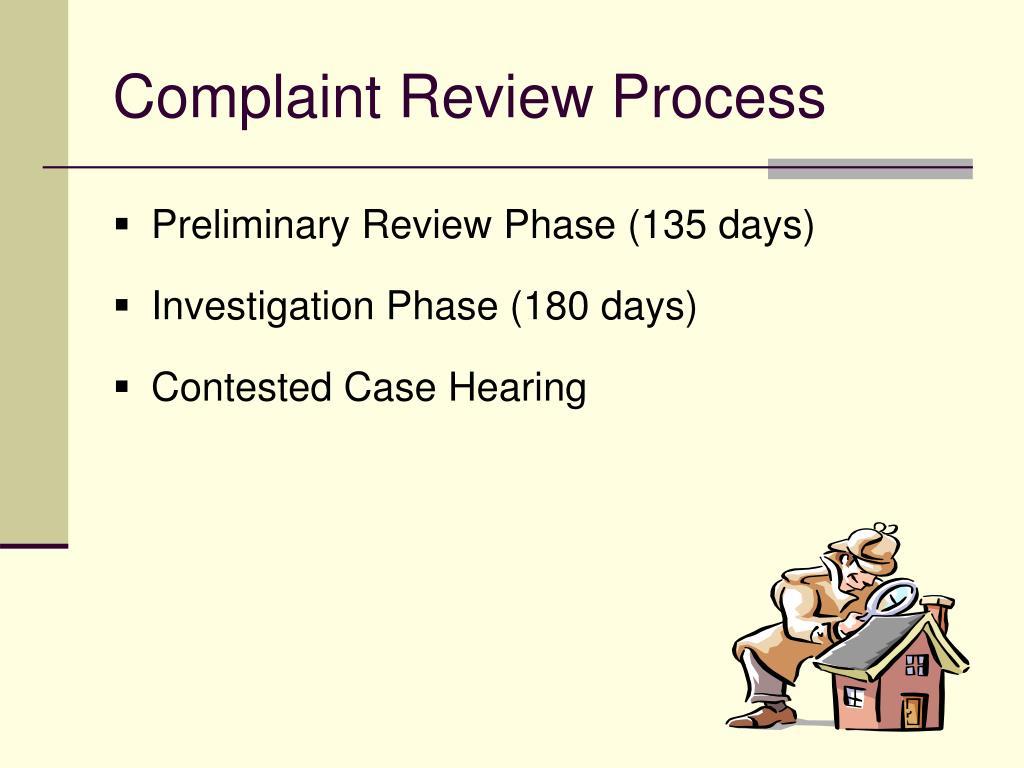 Complaint Review Process