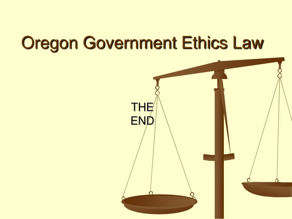 Oregon Government Ethics Law